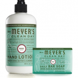 Basil Bar Soap & Lotion Set