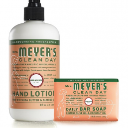 Geranium Bar Soap & Lotion Set