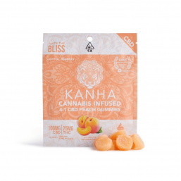 Kanha 4:1 CBD Peach Gummies
